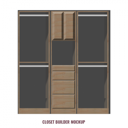 84 inch Double Hanger Closet System with Drawers